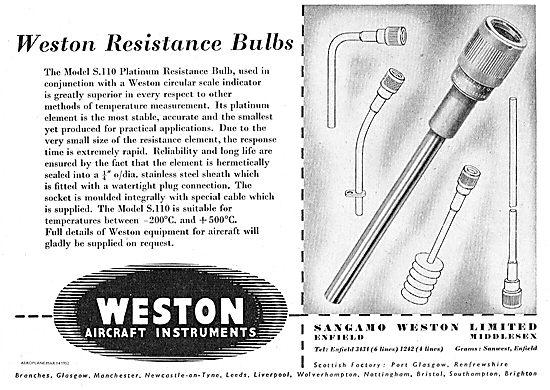 Sangamo Weston Aircraft Instruments