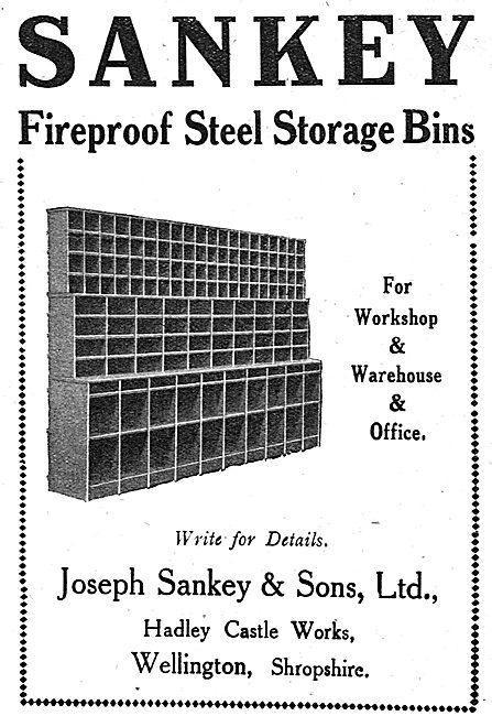 Sankey Fireproof Steel Storage Bins For Offices & Factories