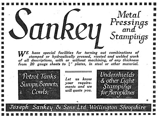 Sankey Presswork For Aeroplanes