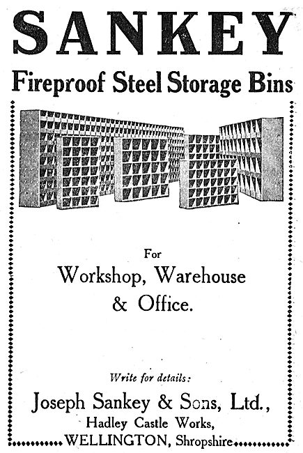 Sankey Fireproof Steel Storage Bins For Workshops