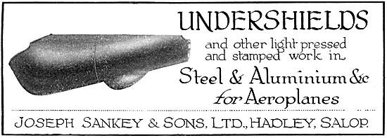 Sankey Steel & Aluminium Pressings For Aircraft