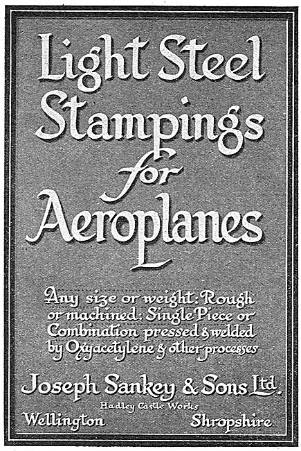 Sankey Light Steel Stampings For Aeroplanes
