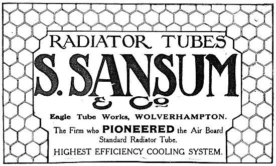 Sansum Aircraft Engine Radiator Tubes