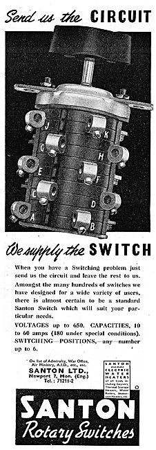 Santon Industrial Electrical Switches 1942