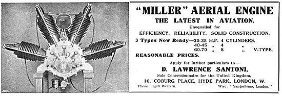The Miller Aerial Engine - 30-70 HP. V Type Engines