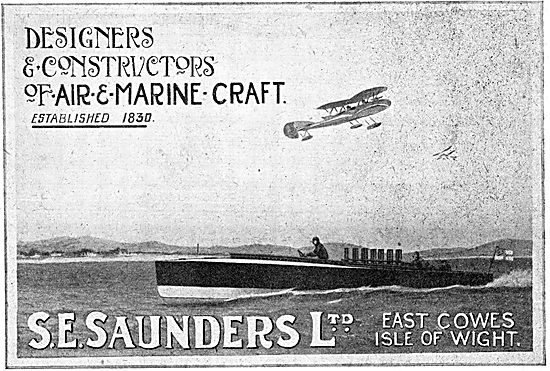 S.E. Saunders Designers & Constructors Of Air & Marine Craft