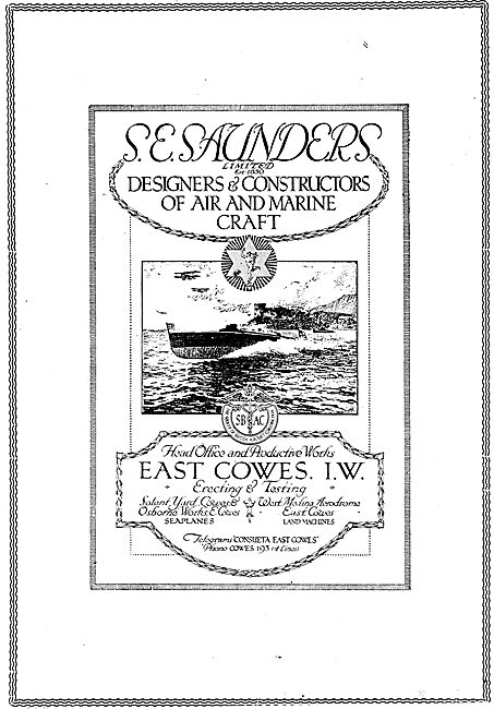 S.E. Saunders  - Designers & Constructors Of  Aircraft