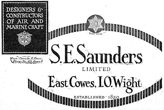 S.E.Saunders WW1 Aircraft & Marine Craft