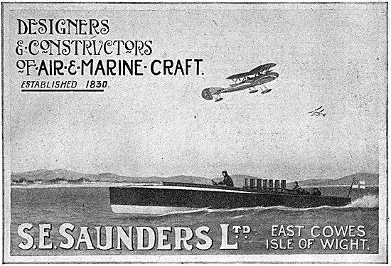S.E.Saunders  WW1 Aircraft & Marine Craft 1917 Advertisement