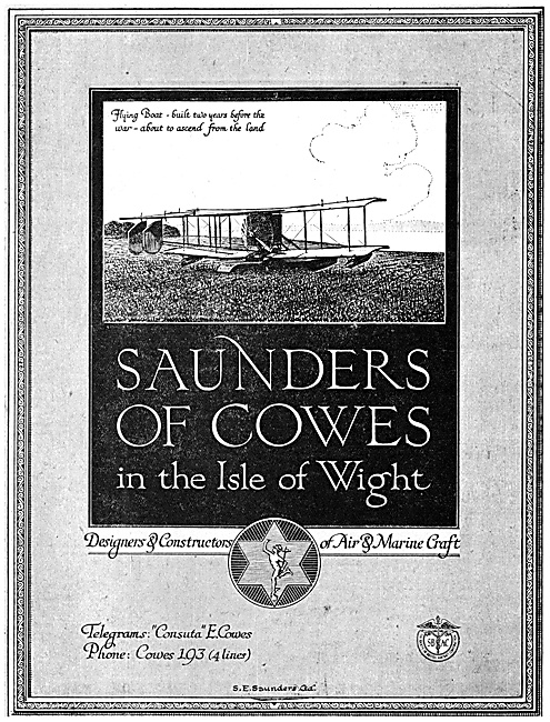 S.E.Saunders Flying Boats 1918