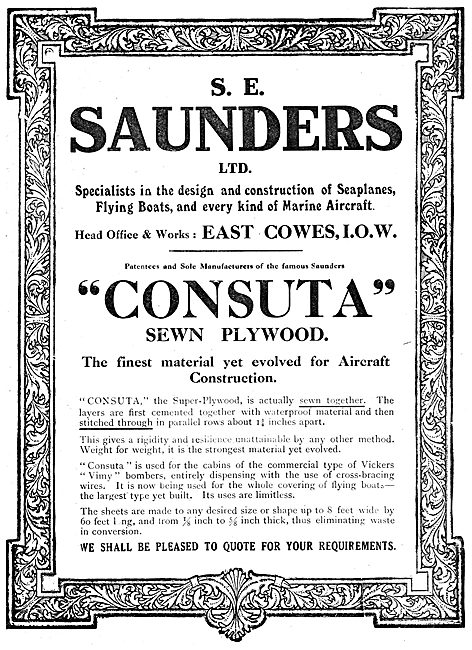 S.E. Saunders  - Consuta Sewn Plywood