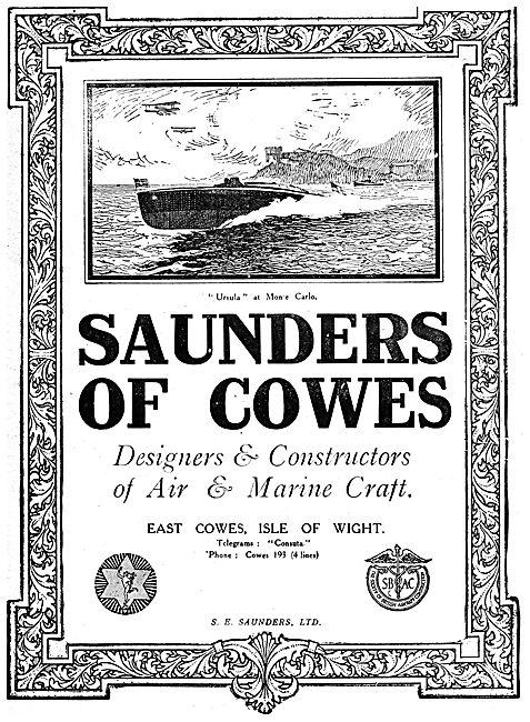 S.E. Saunders Aircraft & Mrine Craft - Cowes I.O.W.