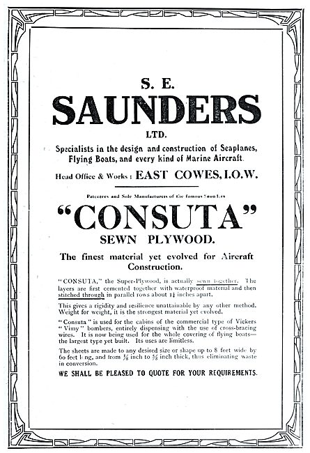 S.E.Saunders - Consuta Sewn Plywwod