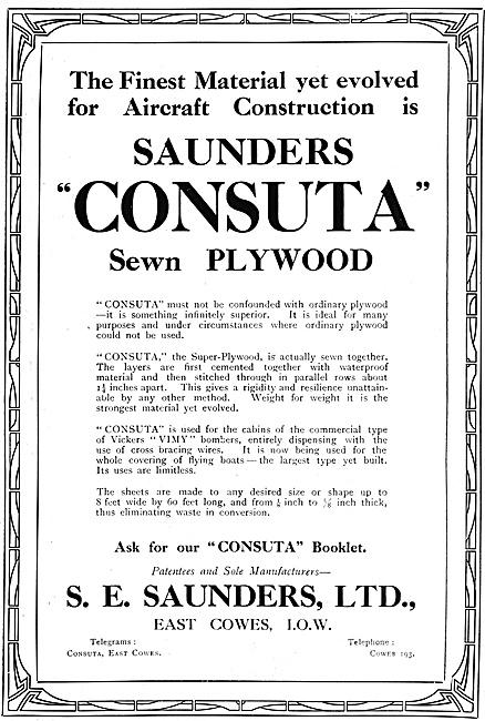 S.E.Saunders Consuta Sewn Plywood 1920