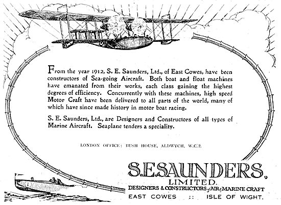 S.E. Saunders : Sea-Going Aircraft