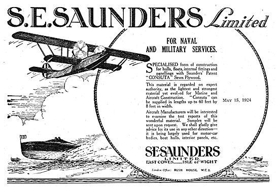 S.E.Saunders - Aircraft Constructors