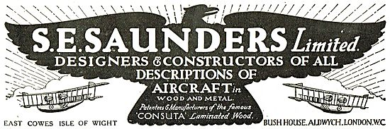 S.E. Saunders  - Cowes. Designers & Constructors Of  Aircraft
