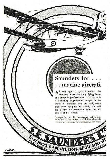 S.E. Saunders - Marine Aircraft Since 1912