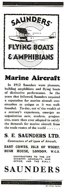 S.E. Saunders  - Flying Boats & Amphibians