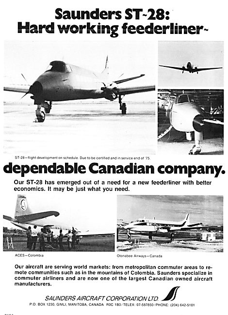 Saunders Aircraft Corporation : Saunders ST-28