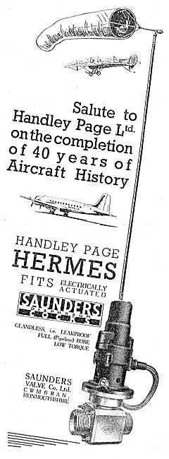 Saunders Valves For Aircraft 1949