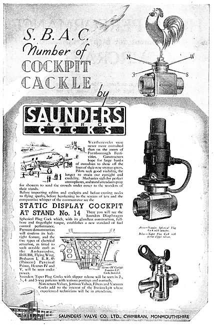 Saunders Valves & Cocks For Aircraft