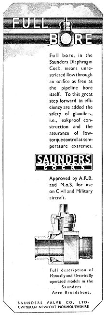Saunders Valves & Cocks For Fluids And Gases