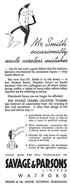 The Savage Sound Locator Trainer 1940