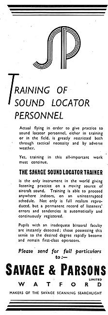 Savage & Parsons Sound Locator Trainer