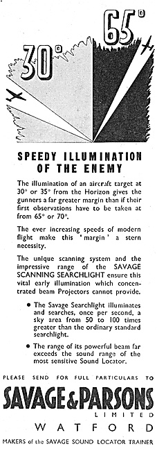 Savage & Parsons - Savage Scanning Searchlight