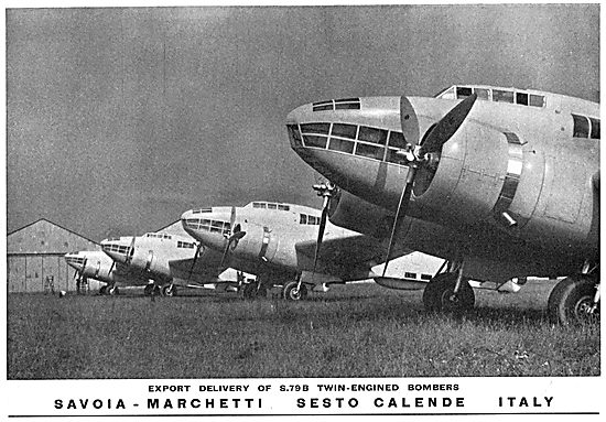 Savoia-Marchetti S79B Twin Engine Bomber Aircraft