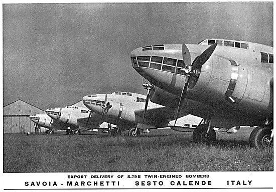 Savoia-Marchetti S79B Twin Engine Bomber Aircraft