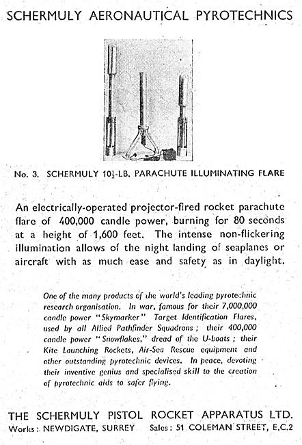 Schermuly Pyrotcehnics - Parachute Illuminating Flare