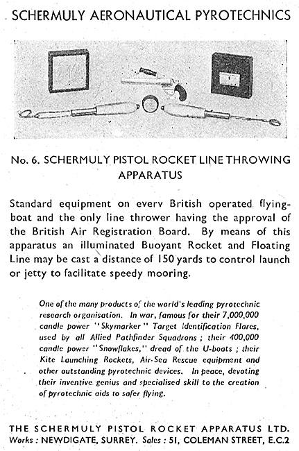 Schermuly Pyrotcehnics - Pistol Rocket Line Throwing Gear