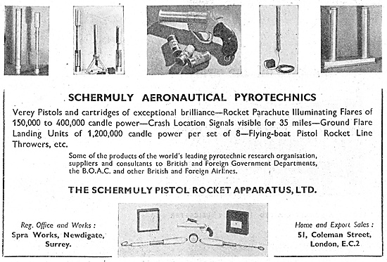 Schermuly Pyrotcehnics - Search & Rescue Flares
