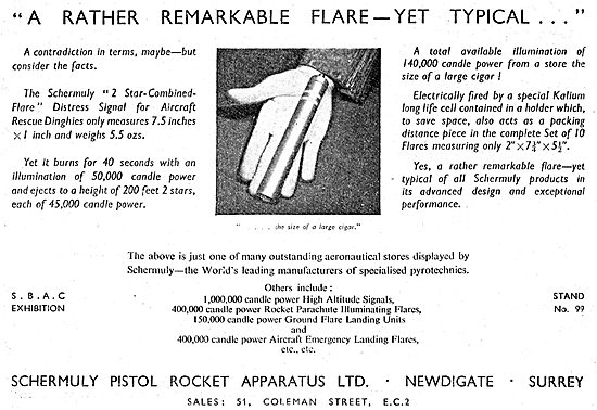 Schermuly Pyrotcehnics - Search & Rescue Rockets & Flares