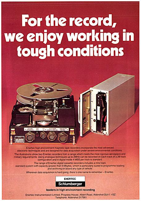Enertic Schlumberger Flight Data Recorders 1980