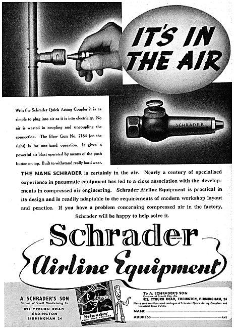 Schrader Pneumatic Workshop Air Line Equipment