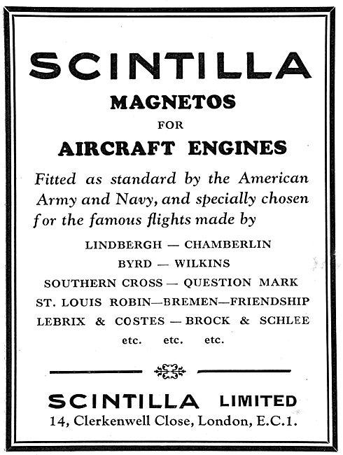Scintilla Magnetos For Aircraft Engines
