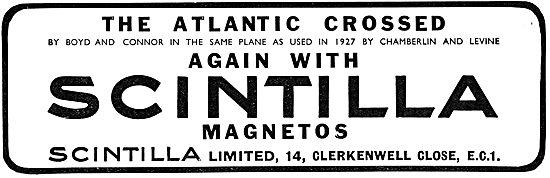 Scintilla Magnetos For Aero Engines 1930