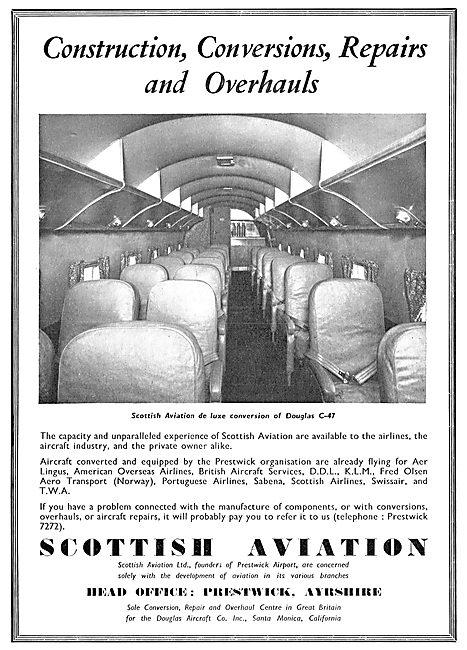 Scottish Aviation - Construction, Conversions, Repairs, Overhauls
