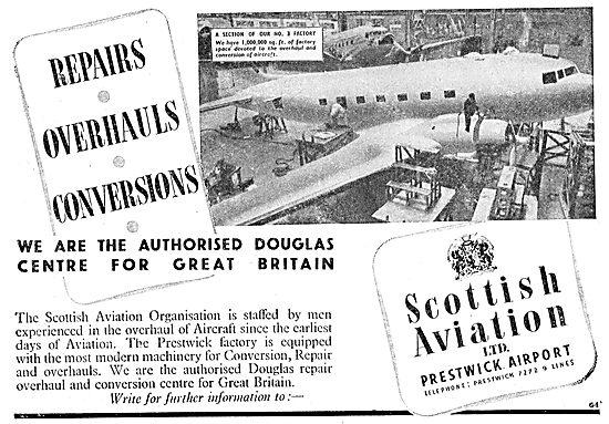Scottish Aviation - Dakota DC3  Conversions, Repairs, Overhauls