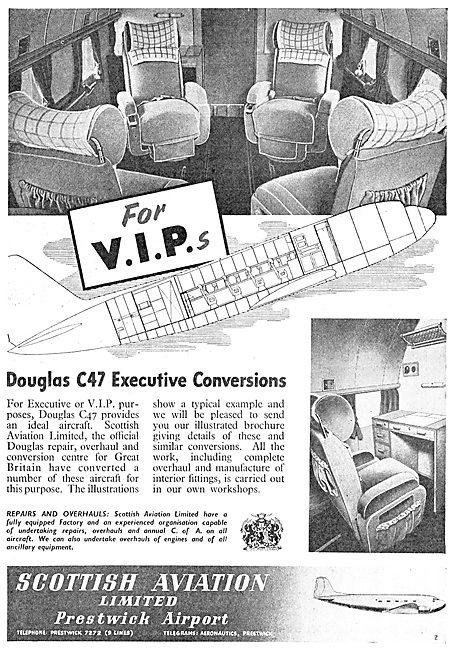 Scottish Aviation - Dakota DC3  C47 VIP Conversions