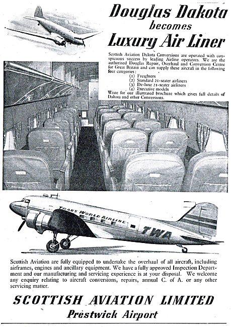 Scottish Aviation - Dakota DC3  C47 Luxury Airliner Conversions