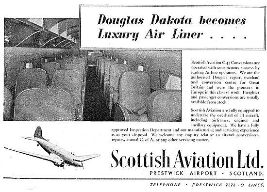 Scottish Aviation - Dakota DC3  Luxury Conversions