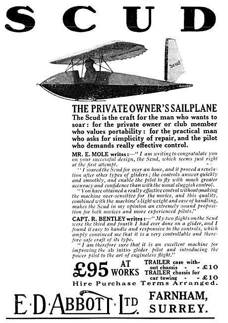 Scud Sailpanes & Gliders - E.D.Abbott