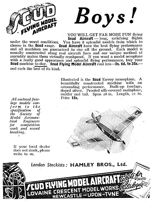 Scud Flying Model Aircraft For Air Minded Boys. Hamleys