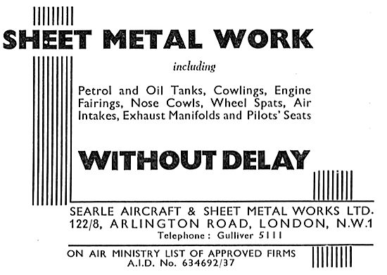 Searle Aircraft & Sheet Metal Works 1837