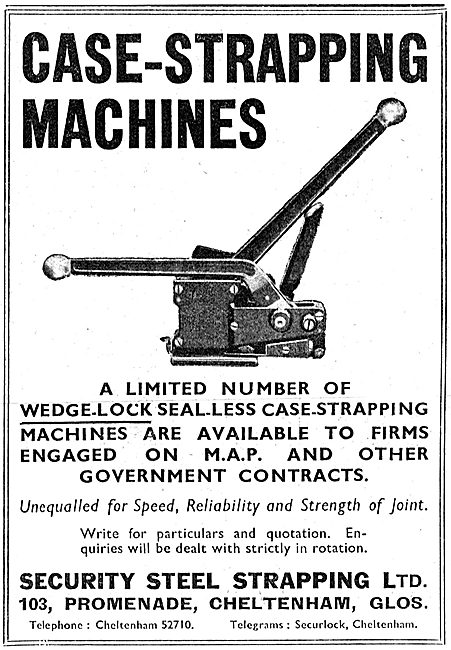 Security Steel Strapping. Cheltenham. Case-Strapping Machines