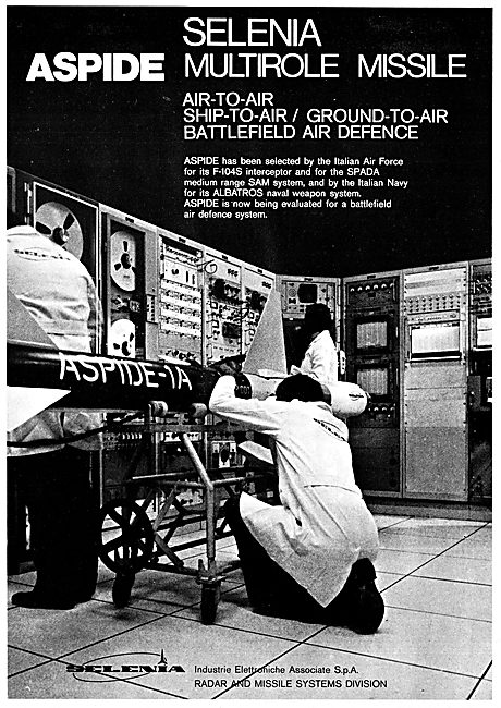 Selenia Aspide Missile 1975